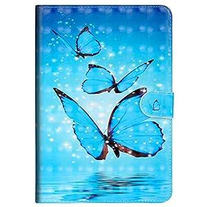 MoreChioce kompatibel mit Galaxy Tab A 10.1 Hülle,3D Muster Leder Flip Case Stand Brieftasche mit Auto Sleep/Wake Funktion kompatibel mit Samsung Galaxy Galaxy Tab A 10.1 T580 T585,EINWEG