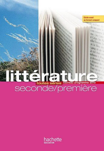 Litterature, seconde-premiere : toutes series