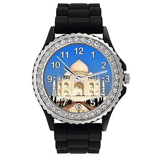 taj-mahal-reloj-de-silicona-para-mujer-con-piedrecillas