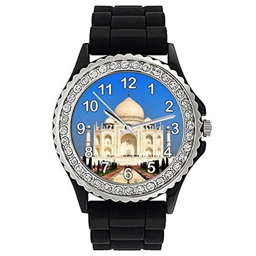 taj-mahal-crystal-rhinestone-jelly-silicone-wrist-watch