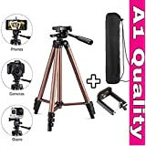 SHOPEE WT 3130 Aluminum Tripod (50-Inch), Universal Lightweight Tripod with Mobile Phone Holder Mount & Carry Bag for All Smart Phones, Gopro, Cameras