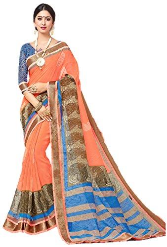 Miraan Linen Saree (Srh820_Multi-Coloured)