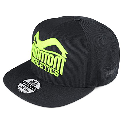 Phantom Athletics Caps - 20 Modelle - Neue Kollektion - Snapback Kappe Mütze Basecaps, Cap Team - Black/Neon, one size