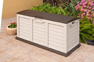 Auflagenbox Garten Truhe XXL 00-811 Kissen box beige braun XXL gross ca. 140 x 61 x 69 cm von Starplast von Starplast auf Du und dein Garten