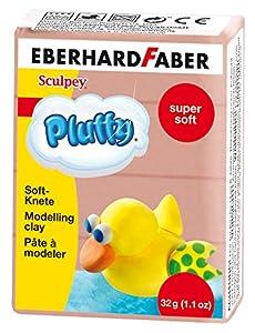 Eberhard Faber 571476-Super Soft plastilina pluffy, 32g, Color marrón
