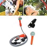 AFFC Ducha portátil de la arandela del Coche Que acampa de baño pulverizador para Bomba eléctrica para el Recorrido al Aire Libre Jardín Lavadora Animal doméstico del Perro de Coche