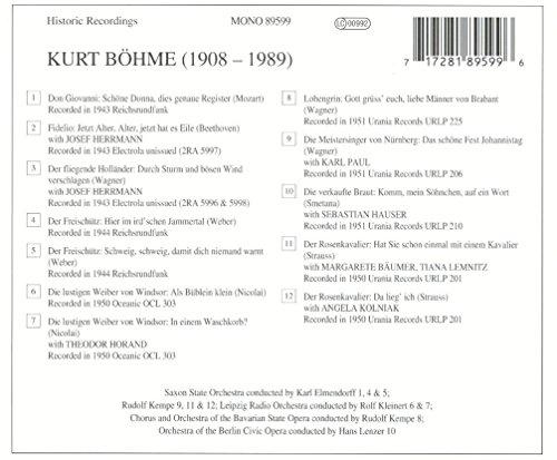 Lebendige Vergangenheit - Kurt Böhme