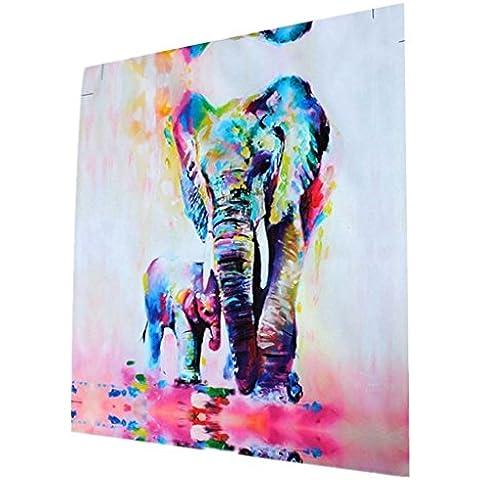 3pcs Cuadro Pintura de Pared Impresión de Elefantes Moderna de Lona Arte Decoración Salón Oficina Regalo - 50cm *