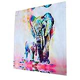 Moderne Leinwand Druck Elefanten Malerei Kunst Wand Bild Dekor - 60cm * 60cm