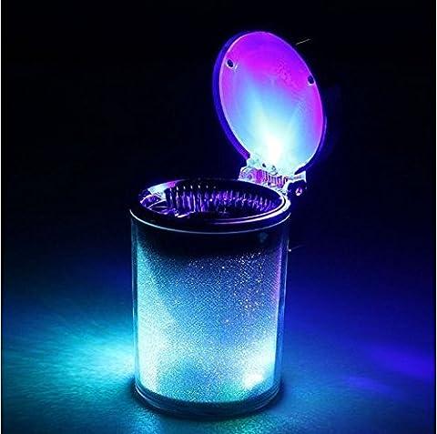 JTRAIL-Cendrier de voiture auto voiture Voyage Portable Couleur LED Cylindre