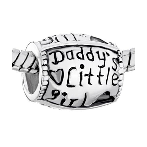 Isajewelry Daddy S Little Girl Charm 925 Silver Love Heart Charm