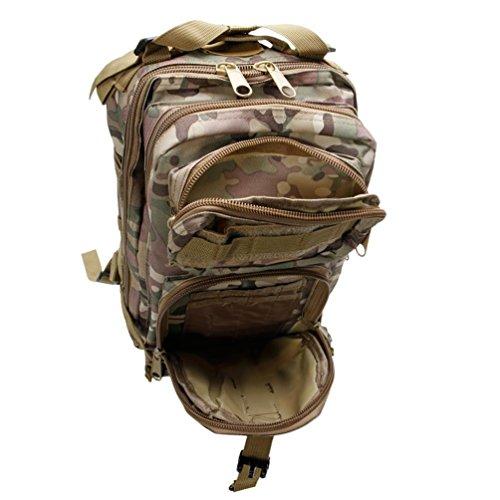 hmilydyk Tactical MOLLE Rucksack army Patrol 3P Military Sport Tasche für Camping Wandern Trekking wasserdicht 25L Camouflage