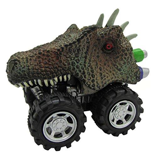 Y56Pull Back Cars Fahrzeuge, Mini Dinosaurier Pull Back Cars Spielzeug Simuliert Dino Dragon Head Big Tire Rad Fahrzeug Mini Monster Auto Cool Play Set Spielzeug Truck für Kinder Kleinkind, B