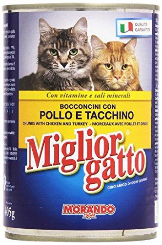 Miglior Gatto Bocconcini con Pollo e Tacchino con Vitamine e Sali Minerali