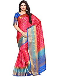 Mimosa By Kupinda Women's Art Silk Saree Kanjivaram Style (Latest Designer Sarees /Party Wear Sarees /New Collection...