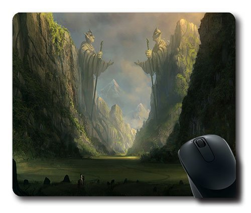 Unendliche Geschichte Kunst Gaming Maus Pad–220* 180* 3mm Dimension–Rutschhemmender Gummifuß–Cloth Top Mousepad/Mauspad (Geschichte-pad)
