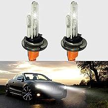 feeldo 2x coche 12V 35W H15Xenon HID Bombillas con lámpara halógena de repuesto HID faros Bombillas 6000K