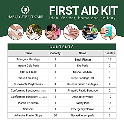 103 Pieces Harley Street Care Professional First Aid/Emergency Kit. Comprehensive, Compact & Durable for Health & Safety, Includes Eye Wash, Cold Packs, Emergency Blanket for Home, Car, Work, Travel 7