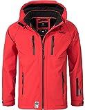 Marikoo Mountain Herren Softshell-Jacke Outdoorjacke NOAA (vegan hergestellt) Rot Gr. 3XL