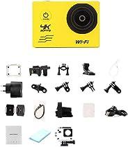 Hauggen1 Action Cam,WiFi Action Camera 16MP 170 Gradi Wide Angel Sports DV Impermeabile Immersioni subacquee Equitazione Ser