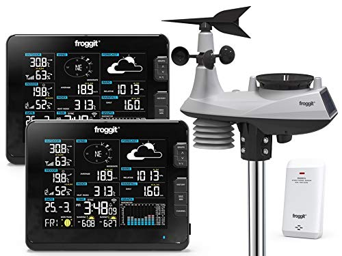 Froggit WH6000 Twin - Stazione meteorologica Radio Wi-Fi Professionale
