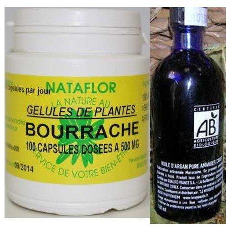 GPH Diffusion - Pack peaux sèches capsules bourrache+ huile argan BIO AB