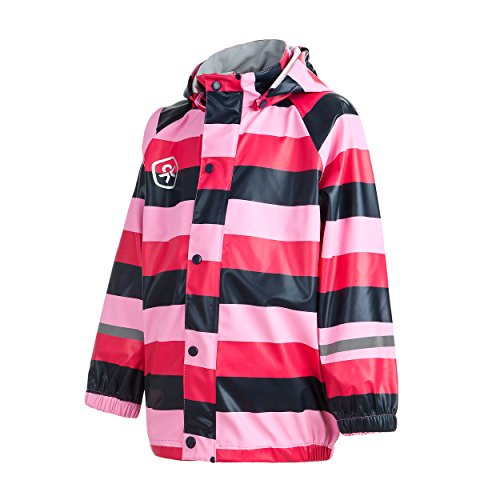 Color Kids.Regen Jacke, 102887-440, Batley PU, Bright Rose Gr. 8-128/134 (Julia Child Rose)