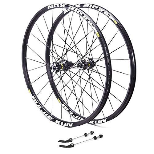 Fahrrad Laufrad 26 Zoll, Aluminiumfelge Laufrad Hinterrad V-Profil Felge Vollachse Schwarz 8/9/10/11-fach Für (Color : A, Size : 29inch) -