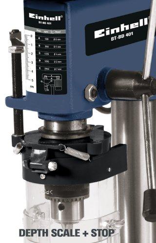Einhell Säulenbohrmaschine BT-BD 401 (350 W, Bohr ؘ 1,5-13 mm, Bohrtiefe 50 mm, Drehzahlregelung, stufenlose Tischhöhenverstellung) -