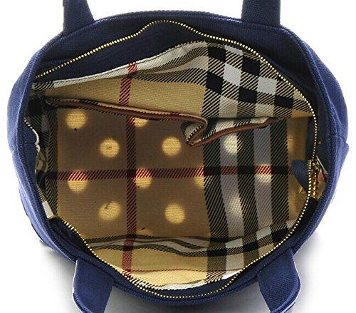 Lady pois tela borsa da spiaggia Borse Shopping Borsa Borse Casual Mini piccola borsa, Tela, Yellow, 29 X 21.5 X 11.5CM Blue
