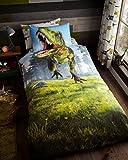 Gaveno Cavailia Set Einzel Bettbezug mit Kissenbezügen Stab Dino für Jungen Bettwäsche Größe 135x 200cm