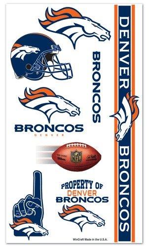8509405 Denver Broncos Temporary Tattoos ()