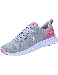 d9a4239f798 CAMEL CROWN Zapatillas de Running Correr Entrenamiento Deporte Deportivas  para Mujer Transpirables Gimnasio Casual Cordones Sneakers