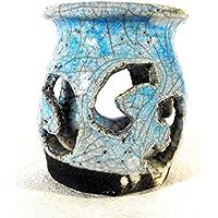 Japanische Keramik Raku Kerzenhalter - Handmade - einzigartiges Stück by Mosraku