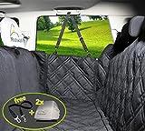 2018 Housse de siège pour chien voiture universelle Imperméable! Protection complète banquette arrière auto+portières+2 appuis-tête+ceinture de sécurité. Couverture pour animaux de qualité supérieure!