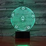 Qaq Starry Sky Bundesliga Fußballverein 3D Nachtlicht Werder Bremen Buntes Gefälle Führte Kleine Tischlampe