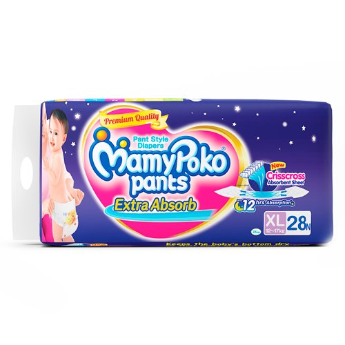 Mamy Poko Pant Style Extra Large Size Diapers (32 Count)
