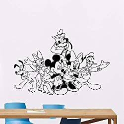 Autocollant Mural Sticker Mural Sticker Mickey Minnie Mouse Donald Dingo Pour Le Dessin Animé Pluto Pour Chambre D'Enfant Chambre D'Enfant