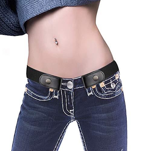 BEAUTPINE cinturón elástico sin Hebilla, Las Mujeres Invisibles no Hebilla Cinturones de Cintura para Pantalones de Jeans