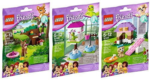 Lego-Friends-Animal-Series-3-Complete-Set-with-Parrot-Puppy-Fawn