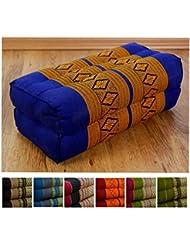 Festes Stützkissen für Yoga (Asanas) der Marke LivAsia®, Blockkissen bzw. Yogakissen als Hilfe, Würfel aus Kapok