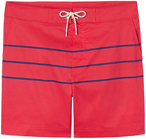 Find. Bañador de Rayas para Hombre, Azul Red/navy Strips, Large