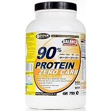 1500 gr 90% de proteínas Zero Carb, de liberación gradual, 4 fuentes de proteínas (suero de leche, caseinato de calcio, clara de huevo d huevo, ...