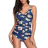 Btruely  Tankini baño de Malla para Mujer Conjunto de Dos Piezas Tallas Grandes Bikini de Punto Bañador de Playa de Verano Vacaciones