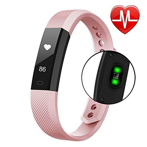 Fitness Tracker Smart Fitness Armband Uhr mit Pulsmesser, Kalorienzähler, Herzfrequenzmesser, Aktivitätstracker, Touchscreen Wasserdicht Activity Tracker Schrittzähler SMS SNS Anrufe Reminder für IOS Android Smartphones
