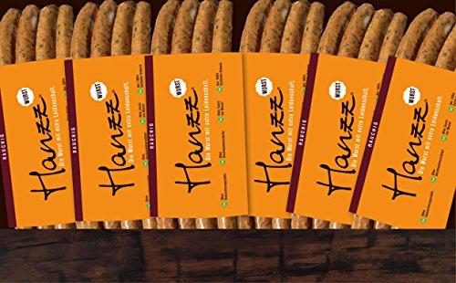 Hanzz Wurst rauchige Bratwurst – Grillwurst: 24 x Gourmet Wurst mit 81 % Fleischanteil ohne
