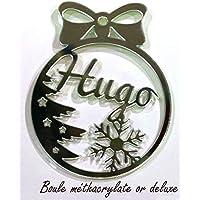 Bola de navidad personalizad para árbol. Adorno navideño original.