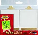 Kreul Solo Goya 68275 - Minikeilrahmen, 2er Set, 7.5 x 7.5 cm mit Ministaffelei, 7 x 12.5 cm
