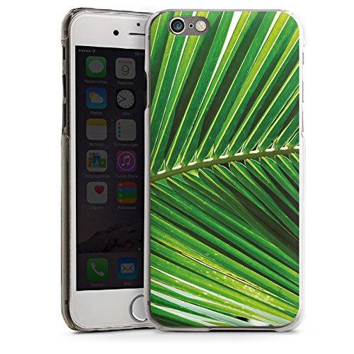 Apple iPhone 6 Housse Étui Silicone Coque Protection Plumeau de palmier Feuille Nature CasDur transparent