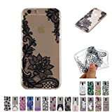 V-Ted Coque Apple iPhone 6S Plus 6 Plus Fleur Dentelle Silicone Ultra Fine Mince...